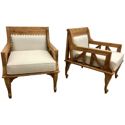Pair of Thebes Teak Lounge Chairs