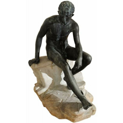 Antique Chiurazzi Bronze Seated Mercury