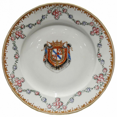 Antique Chinese Export Armorial Plate