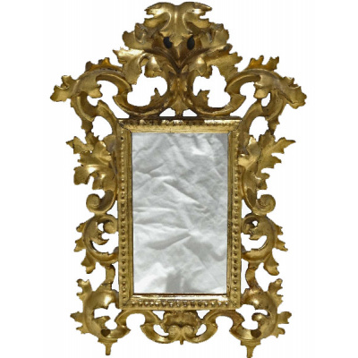 Antique Carved & Gilded Venetian Mirror