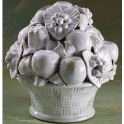 Artform White Porcelain Fruit Basket