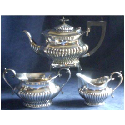 Antique Georgian 3PC Silver Tea Set