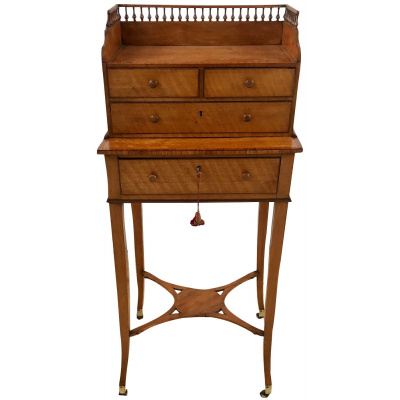 18th c English Satinwood Bonheur du Jour