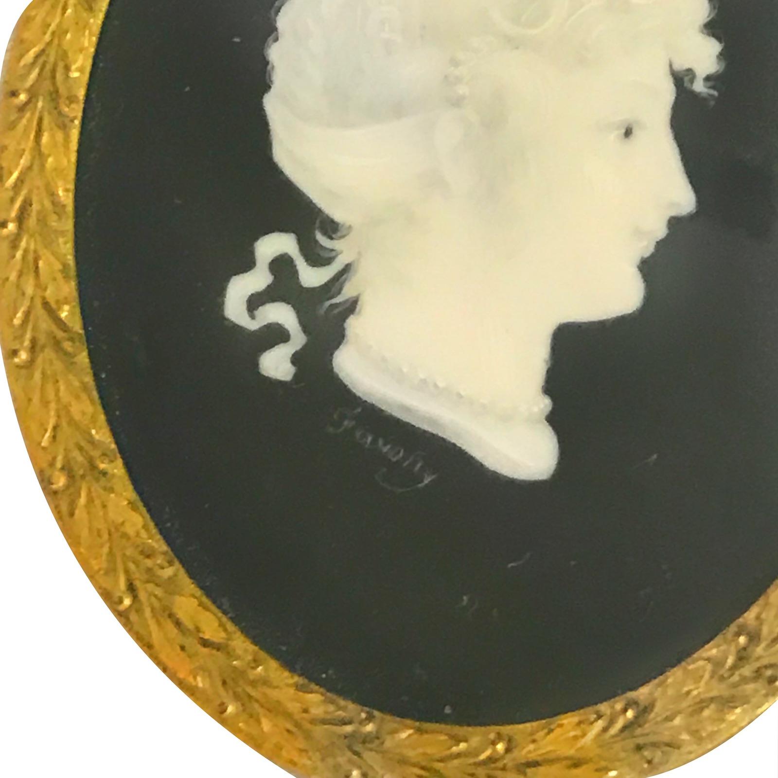19th c. Miniature Silhouette Portrait #F