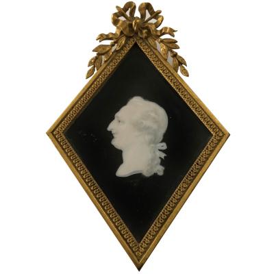 19th c. Miniature Silhouette Portrait #E