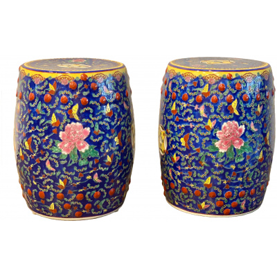 Vintage Chinese Porcelain Garden Seats