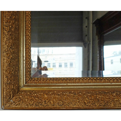 Antique 32x24 GiltGesso Aesthetic Mirror