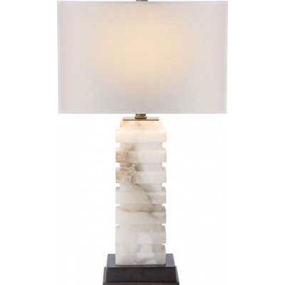 Ice Ridge Alabaster Lamp w/o Shade