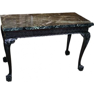 Antique Irish Console Table w/GRN Marble