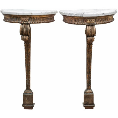 Antique French Marble Top Consoles *Hold