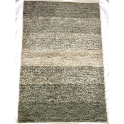 Far East 100Knot 2x3 Rug - Green Line