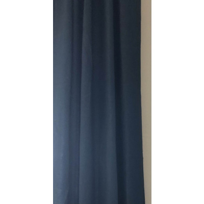 Persian Blue Linen Curtain Panels
