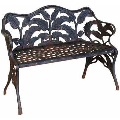 Antique Cast Iron Petite Fern Settee