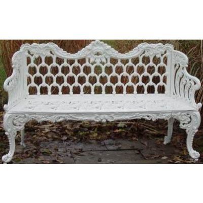 Antique White House Cast Iron Bench