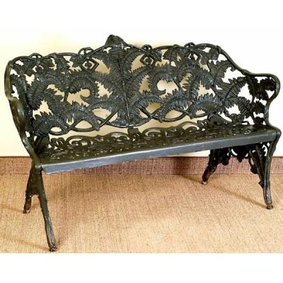Antique Cast Aluminum Fern Bench