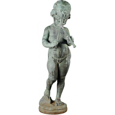 Antique Bronze Putti w/Pan Pipes *Sold
