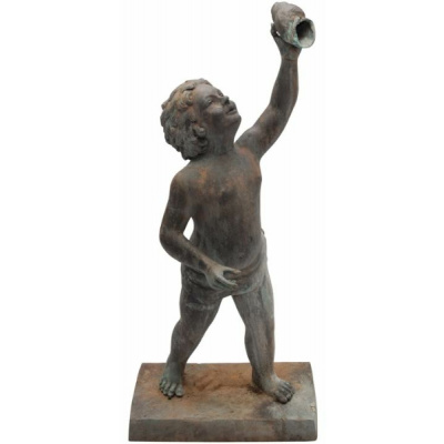 Antique Bronze Boy w/Shell *Hold