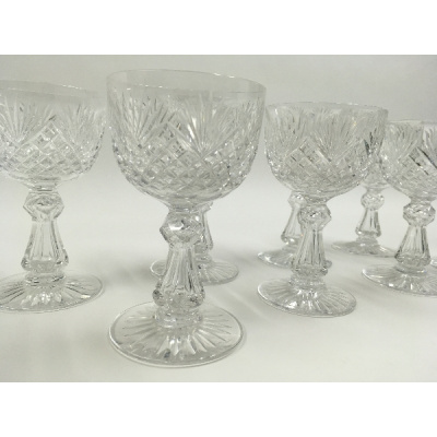 Antique Dorflinger Wine Goblets Set/8
