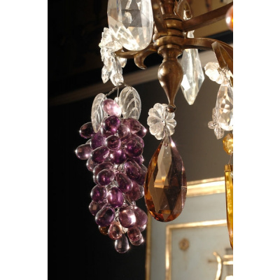 19th c. 10 Light Chandelier w/Fruit*Hold