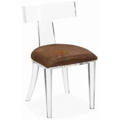 Athena Acrylic Side Chair w/Cinn Hide*L