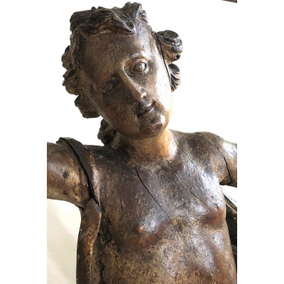 17th c. Northern European Angel Carving