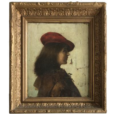 19th c. Continental Portrait Painting