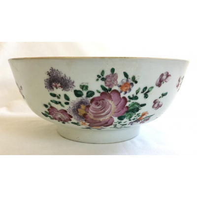 18th c. Chinese Export Punch Bowl#2