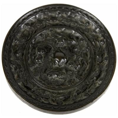 "Antique Han Dynasty 4"" Bronze Mirror"