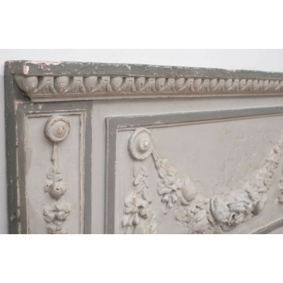 19th c. Painted French 3 Panel Trumeau