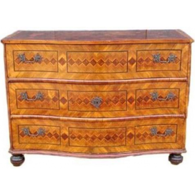 18th c. German Walnut Parquetry Commode