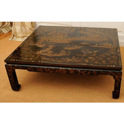 Antique Chinoiserie Cocktail Table