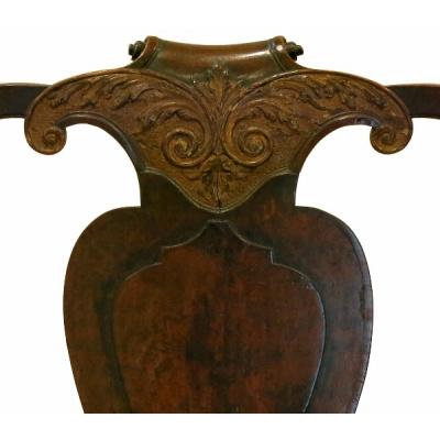 Antique 18th c Dutch Walnut Arm Chairs