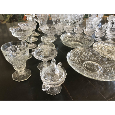 104 pc Group of McKee Glass Rock Crystal