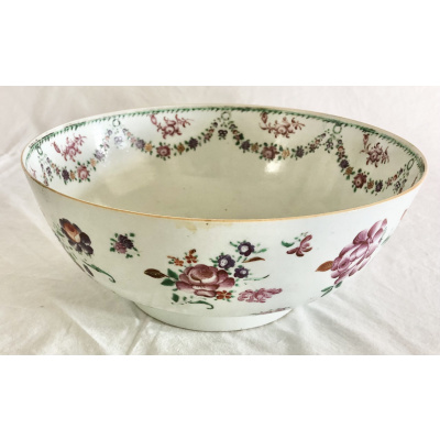 18th c. Chinese Export Punch Bowl #A