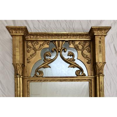 19th c. Gilded Gothic Mirror